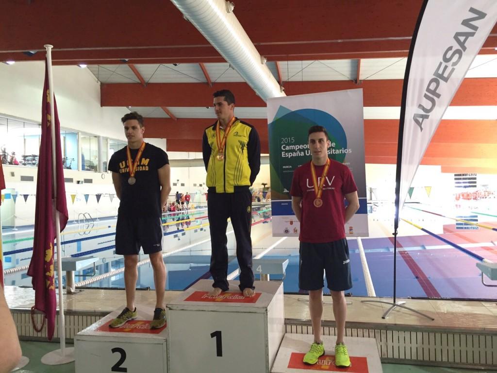 Albert Filella, en tercer lloc al podi en la prova en 50 m lliures.