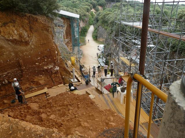 Treballs a Gran Dolina (foto cedida per la Fundación Atapuerca)