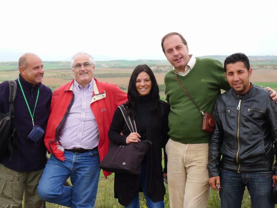 Tres dels autors de l'article: José Manuel García (primer per l'esquerra), Bienvenido Martínez-Navarro (segon) i Paul Palmvist (quart).