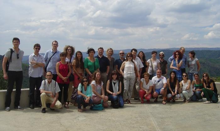 Els investigadors i socis del projecte Wildwine al Priorat, a la reunió de treball del 26 de juny.