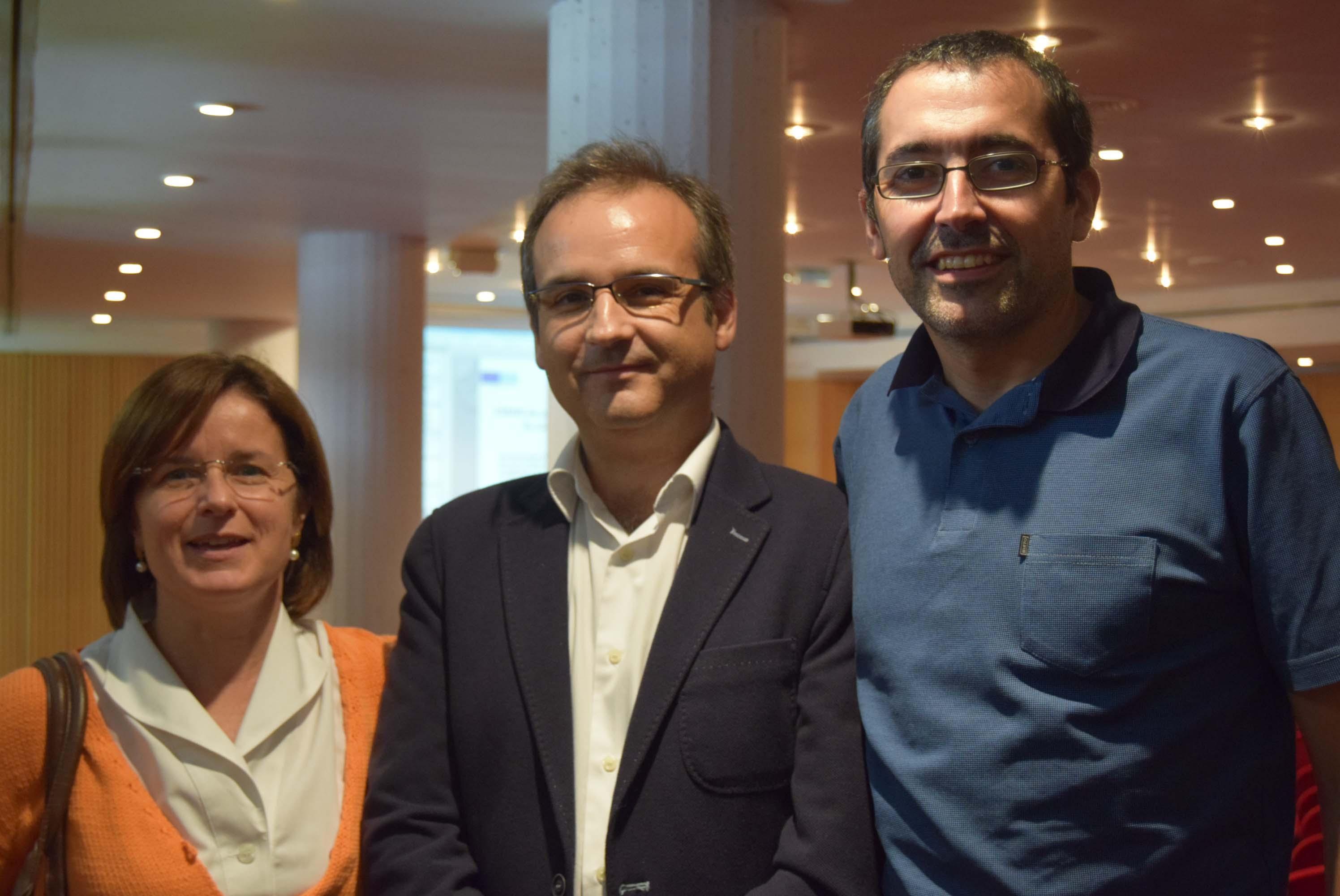 Els investigadors de l'Hospital Universitari Institut Pere Mata Elisabet Vilella, Alfonso Gutiérrez-Zotes i Javier Labad.