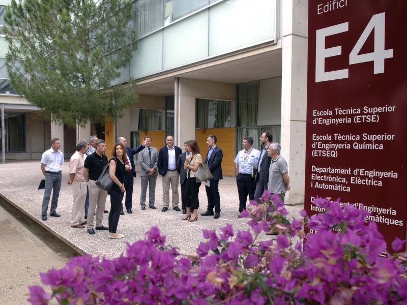 Els membres del Consell Assessor han visitat l'ETSEQ.