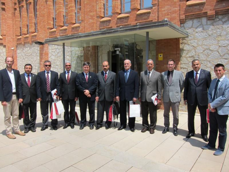 Representants de South Valley University,  Fayoum University i  Arab Academy of Science, Technology and Maritime Transport, juntament amb els de la URV.
