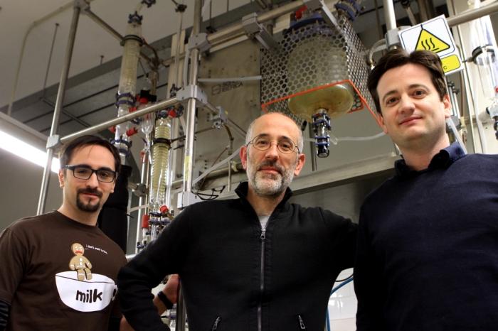 Carlos Pozo, Laureano Jiménez y Gonzalo Guillén.