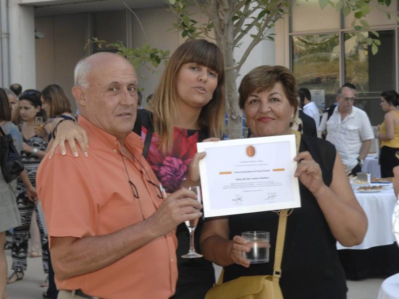 La família ha volgut acompanyar els estudiants premiats.