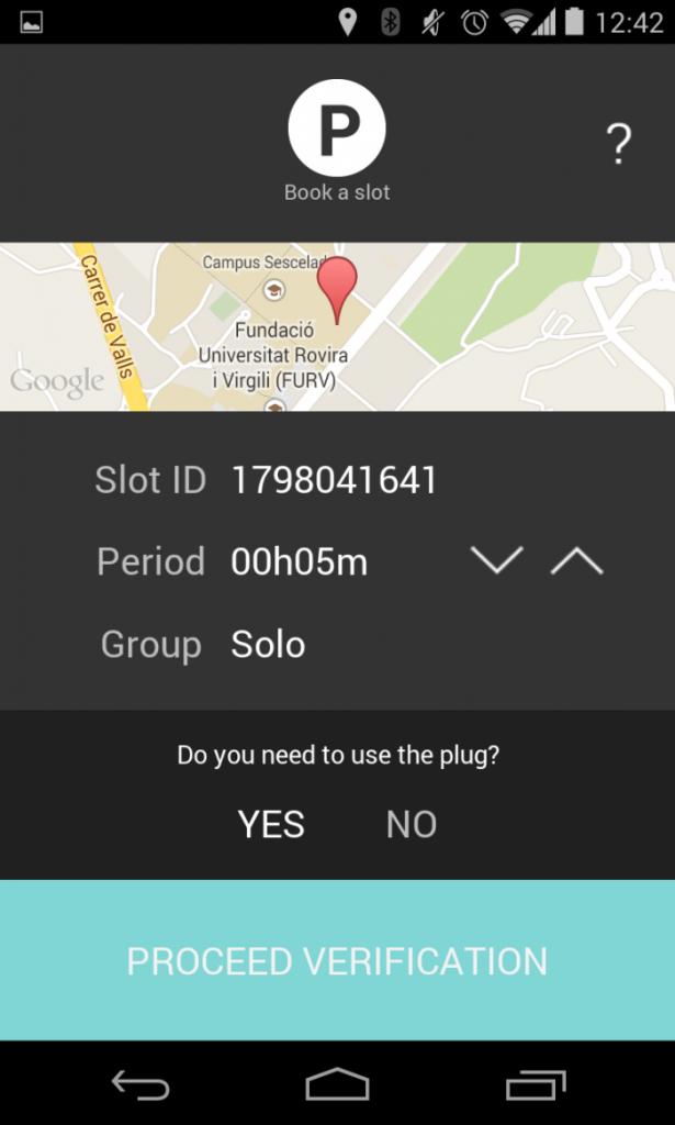 Captura de pantalla de l'aplicació.