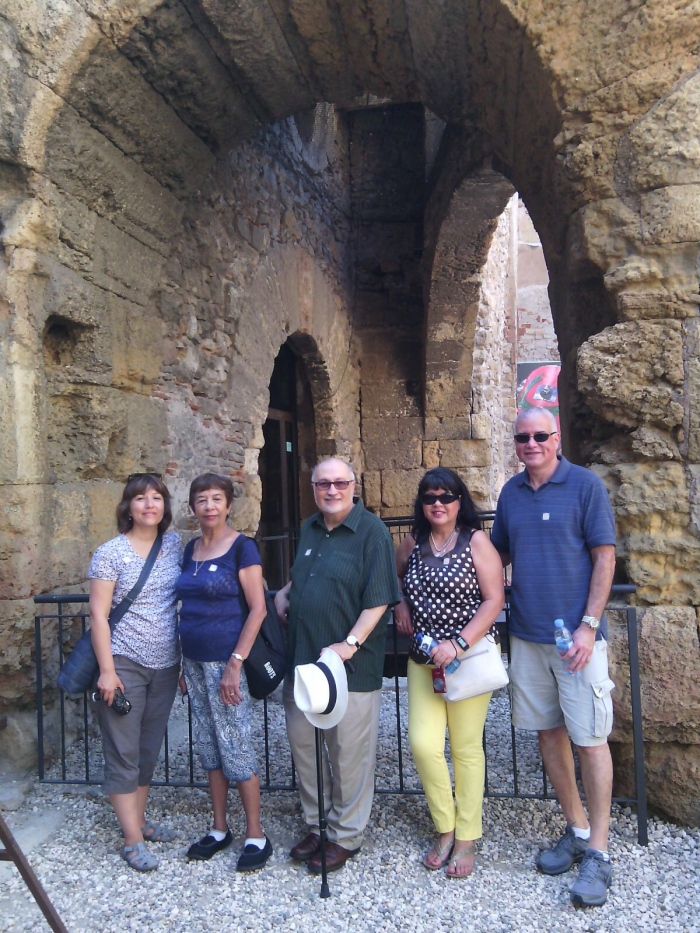 American Spanish professors during a cultural visit.