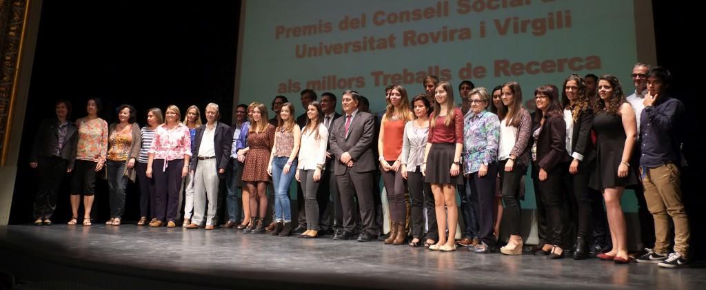 foto de grup dels premiats de secundària