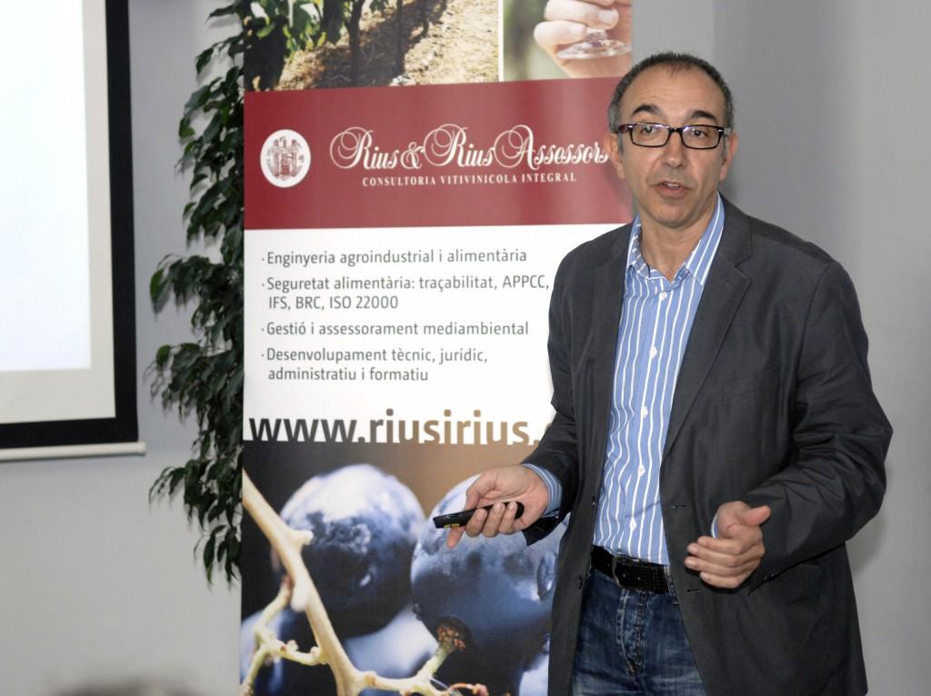 El professor Jaume Gené, durant la conferència.
