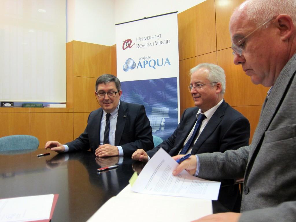 Signatura del conveni entre PlasticsEurope i la URV