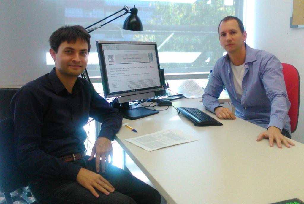 David Sánchez i Alexandre Viejo, del grup de recerca CRISES, del Departament d'Enginyeria Informàtica i Matemàtiques.