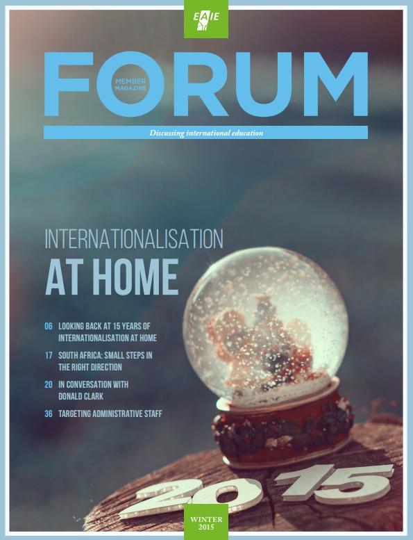 FORUM magazine's cover - desember 2015
