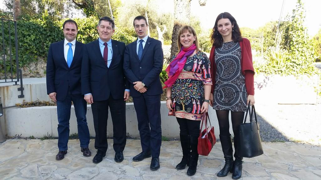 D'esquerra a dreta Ignasi Salvadó, Josep Anton Ferré, Amadeu Altafaj, Mar Gutiérrez-Colón i Marina Casals.
