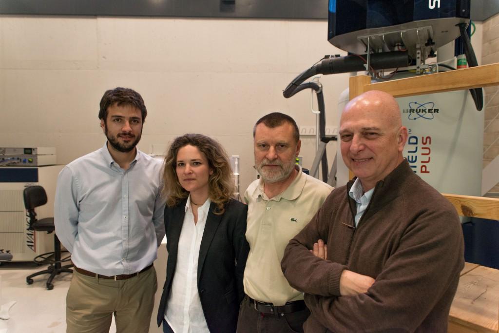 De izquierda a derecha, Roger Mallol, Núria Amigó, Xavier Correig y Lluís Masana.