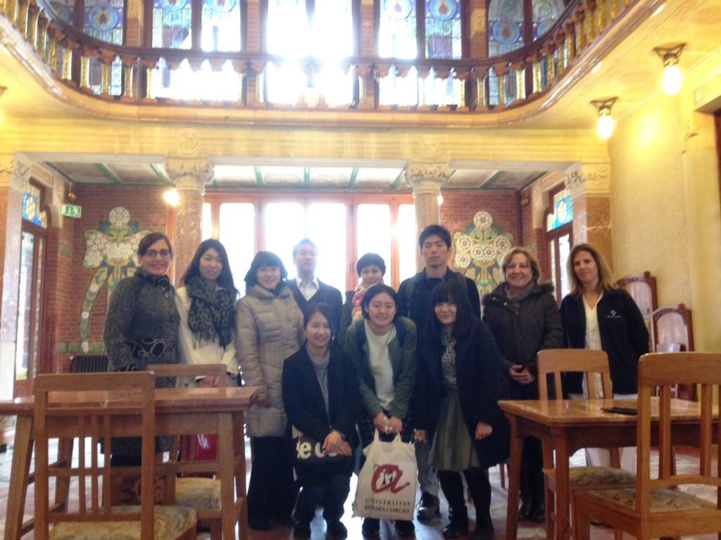 Els estudiants japonesos del grup d'Infermeria van visitar l'Hospital Universitari Institut Pere Mata.
