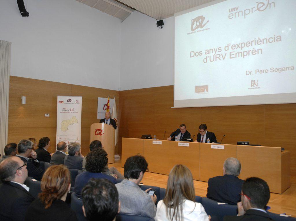 Pere Segarra va repassar l'activitat d'URV Emprèn des de la seva creació, l'any 2014.