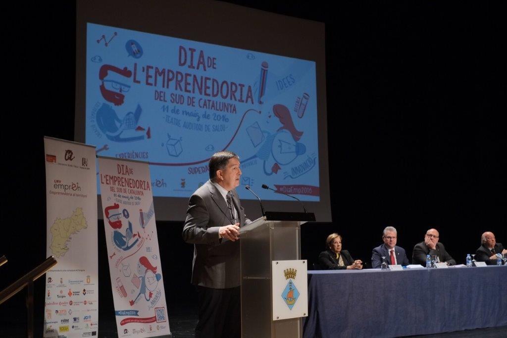 El rector de la URV, Josep Anton Ferrer, va intervenir a la inauguració de la jornada.