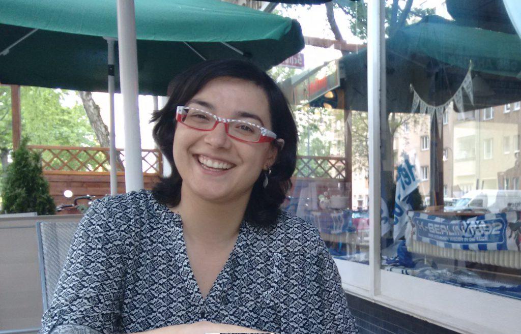 La Sandra Plademunt durant la seva estada de mobilitat a Berlin.