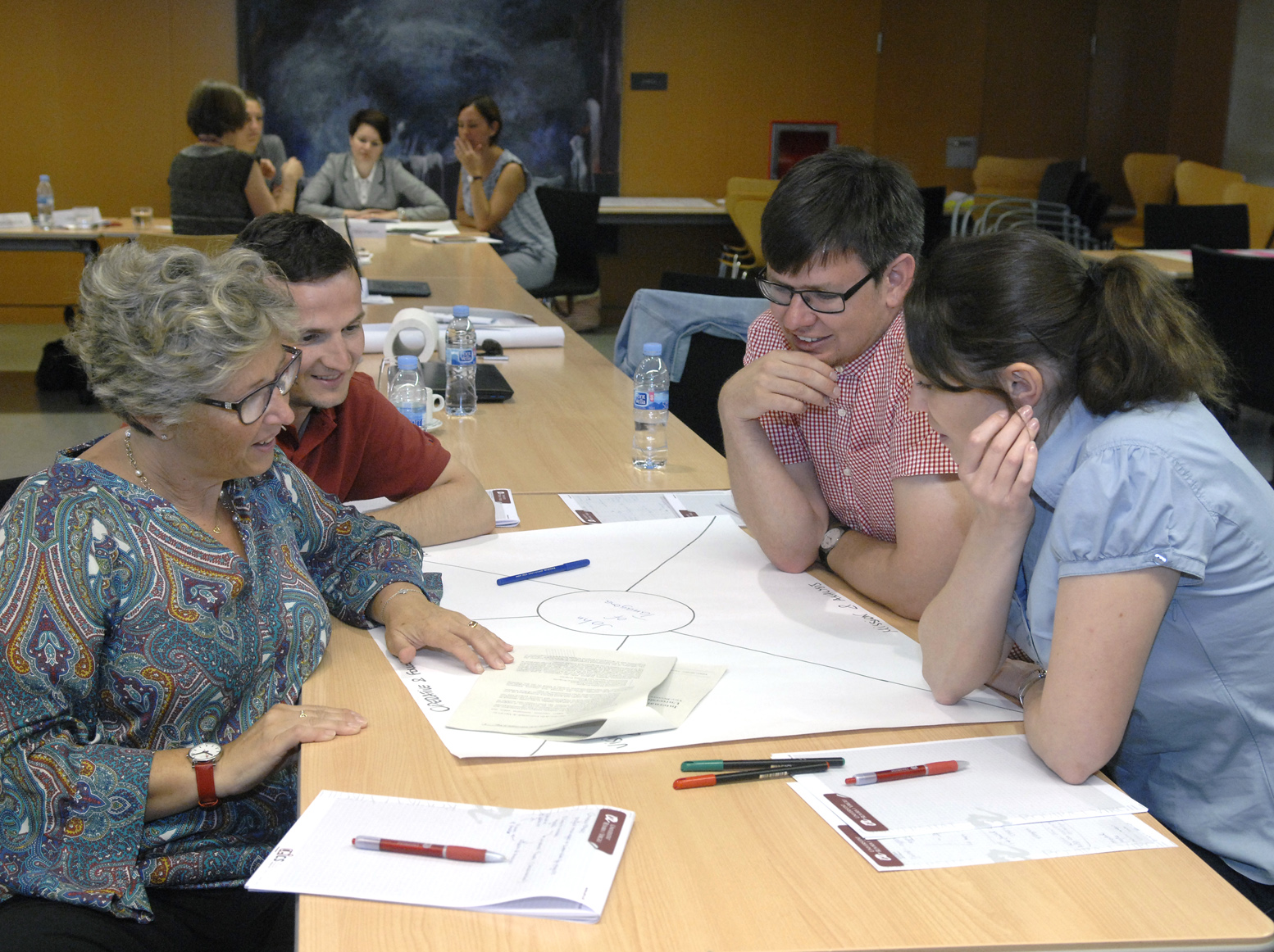 International Staff Week participants, working in groups