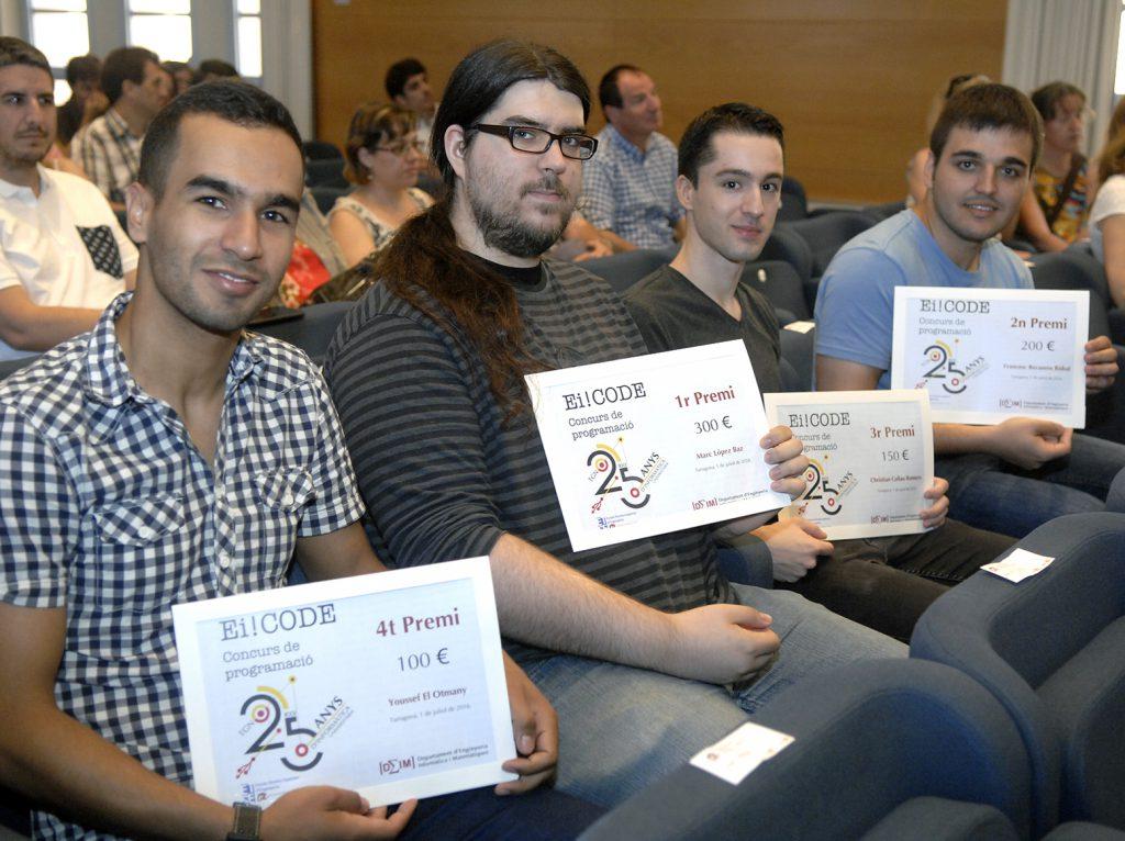 Els guanyadors del concurs Ei!Code.