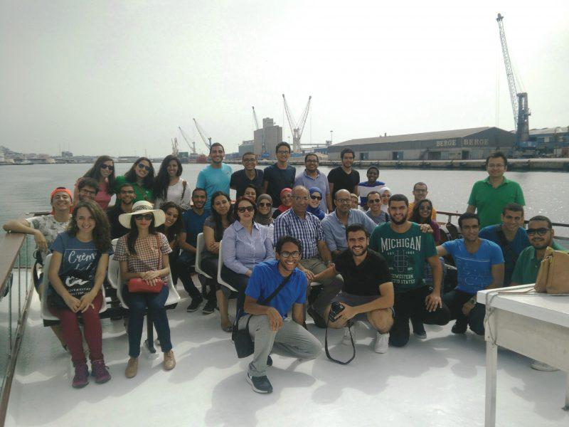 Els joves egipcis han fet una visita al port de Tarragona el dia 20 de juliol.
