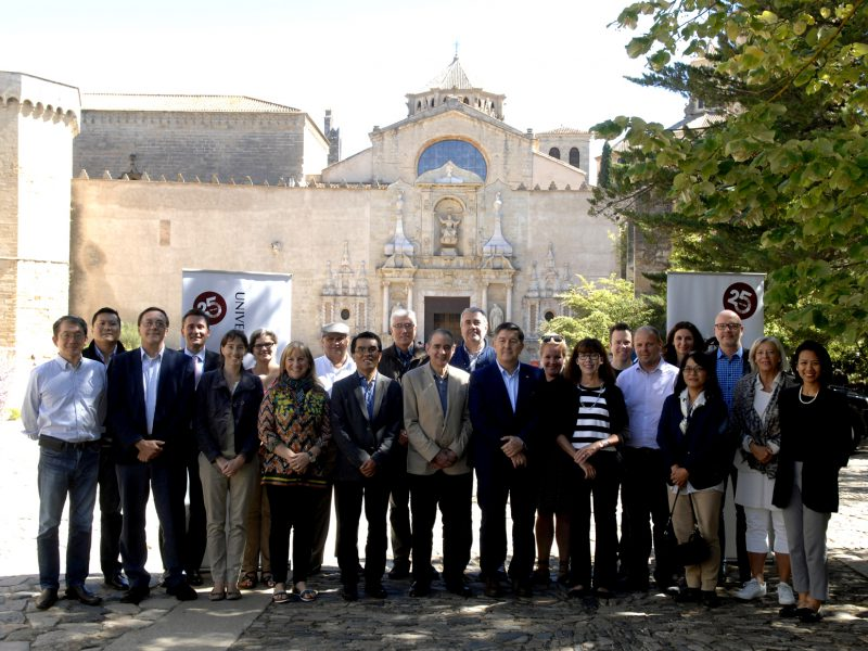 The INU group during the visit to the Monastery of Poblet