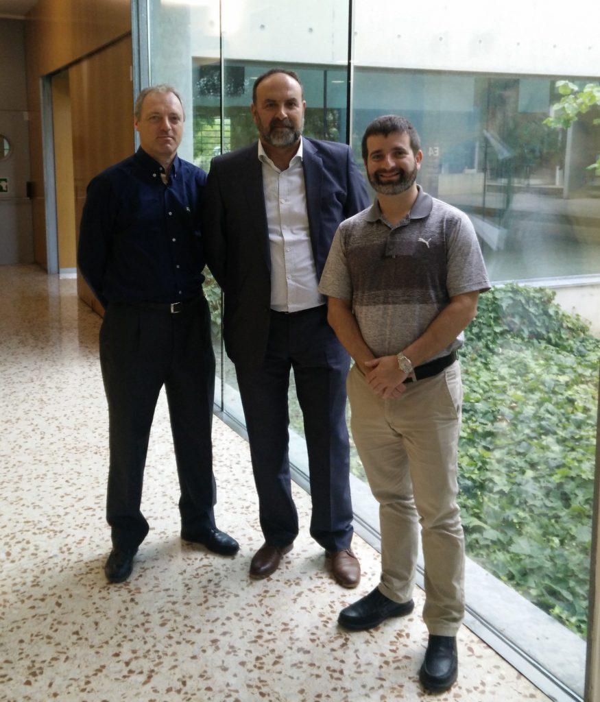 Jeffrey Palis (right) met Josep Bonet (centre) and Bernd Theilen
