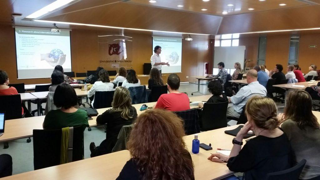 Un moment de la sessió oberta, al campus Catalunya