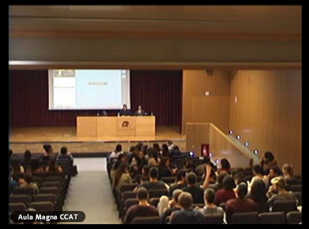 the Main Lecture Theatre of the Catalunya Campus