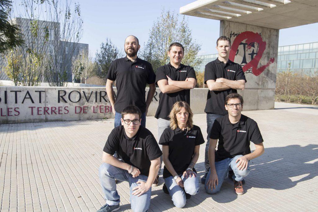 L'equip d'INCUBALIA a la seu del campus de les Terres de l'Ebre.