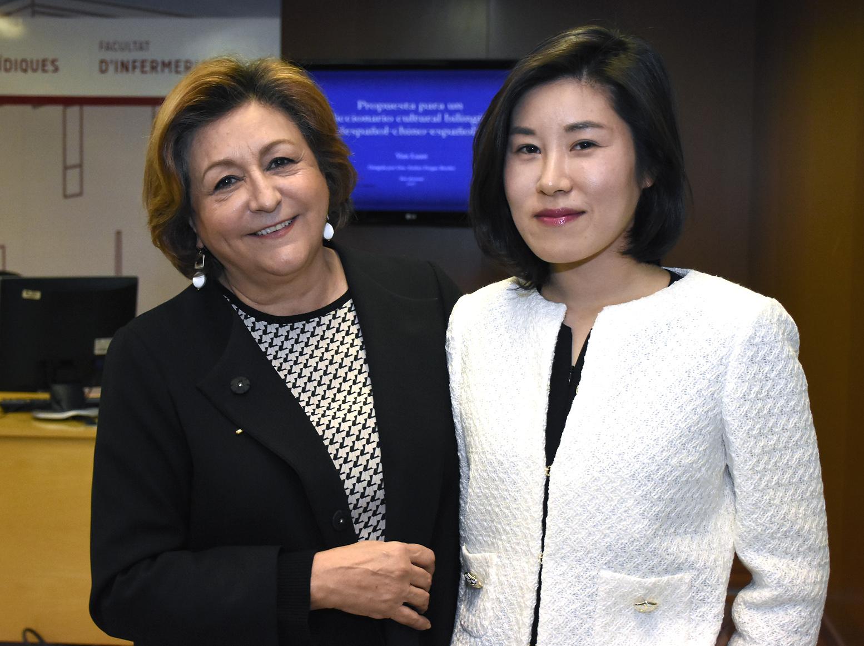 Esther Forgas, directora del Centre d'Estudis Hispànics, ha estat la directora de tesi de Yun Luan.