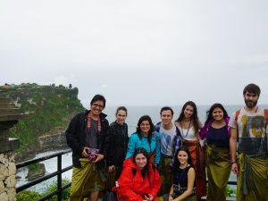 URV students at the Ullu Watu temple