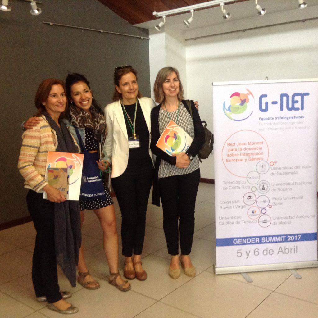 Ana Giménez, Mariam Lutfi, Laura Román i Inma Pastor (coordinadora), que han treballat en el projecte.
