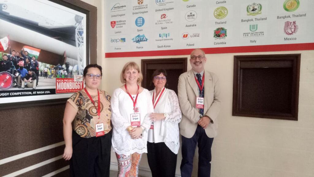 La delegació URV formada per Carmen Gómez, Mar Gutiérrez-Colón, Marta Nel.lo i Lluís Marsal