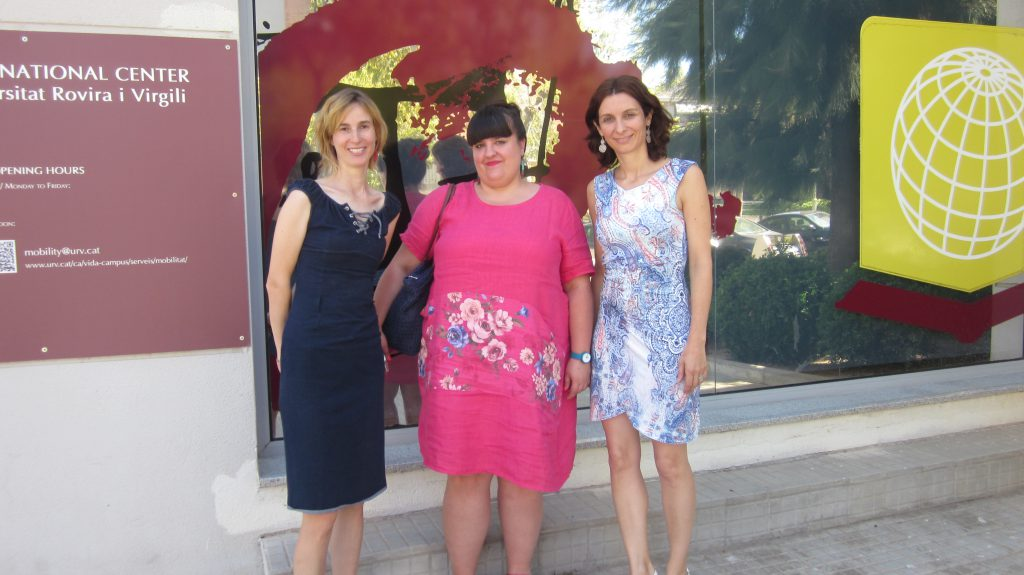 Borbala Varga during her visit to the URV's International Center