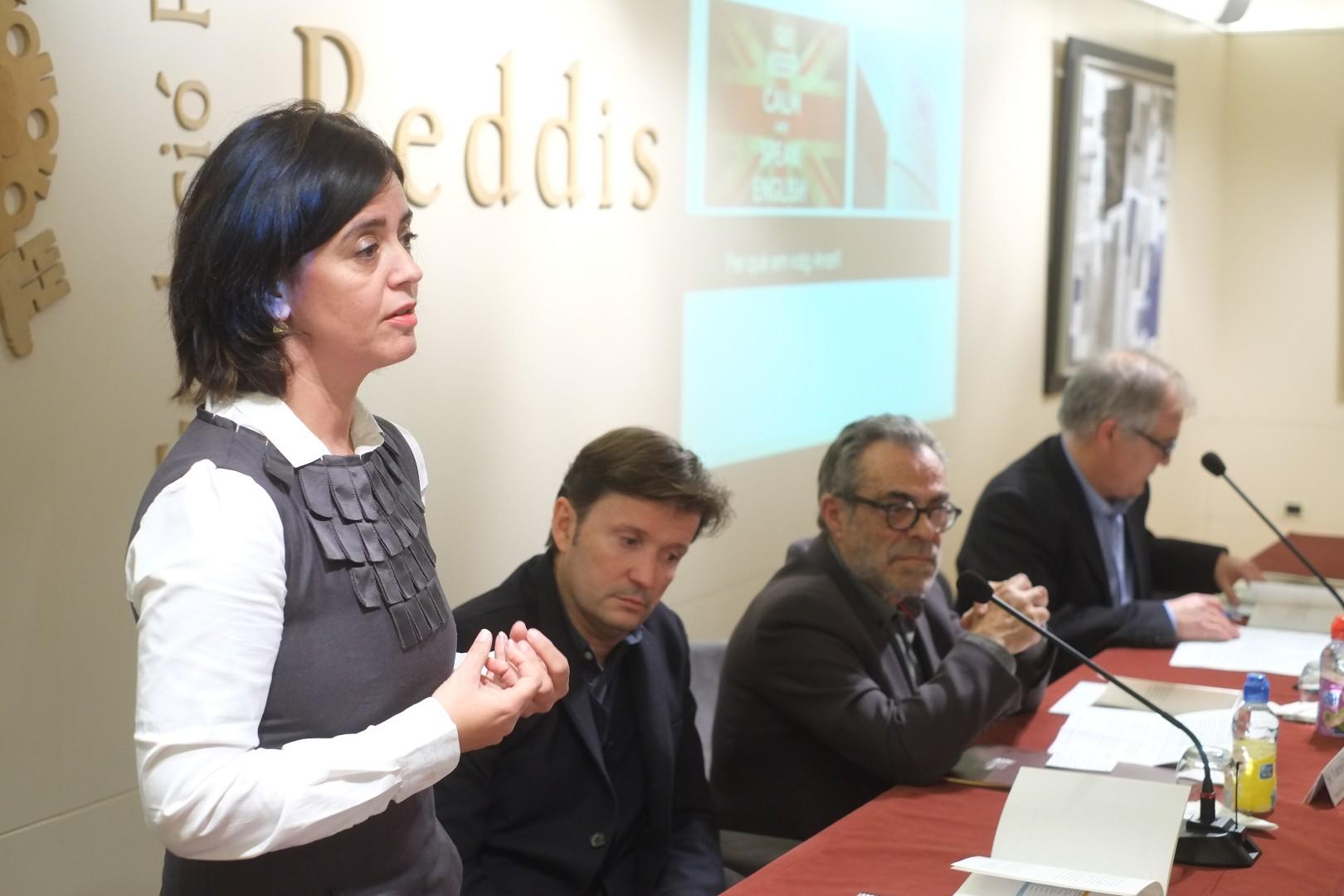 L'exestudiant Immaculada Vázquez va parlar sobre la importància de la mobilitat.
