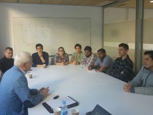 Tinus van de Pas during his meeting with URV students