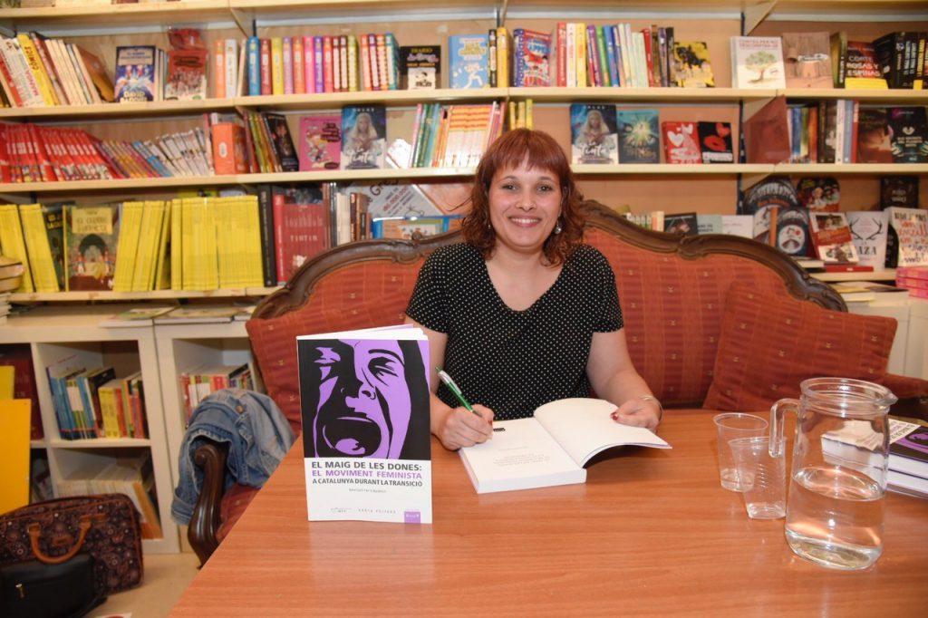 L'autora del llibre, Meritxell Ferré, durant la presentació de l'obra a Tarragona.