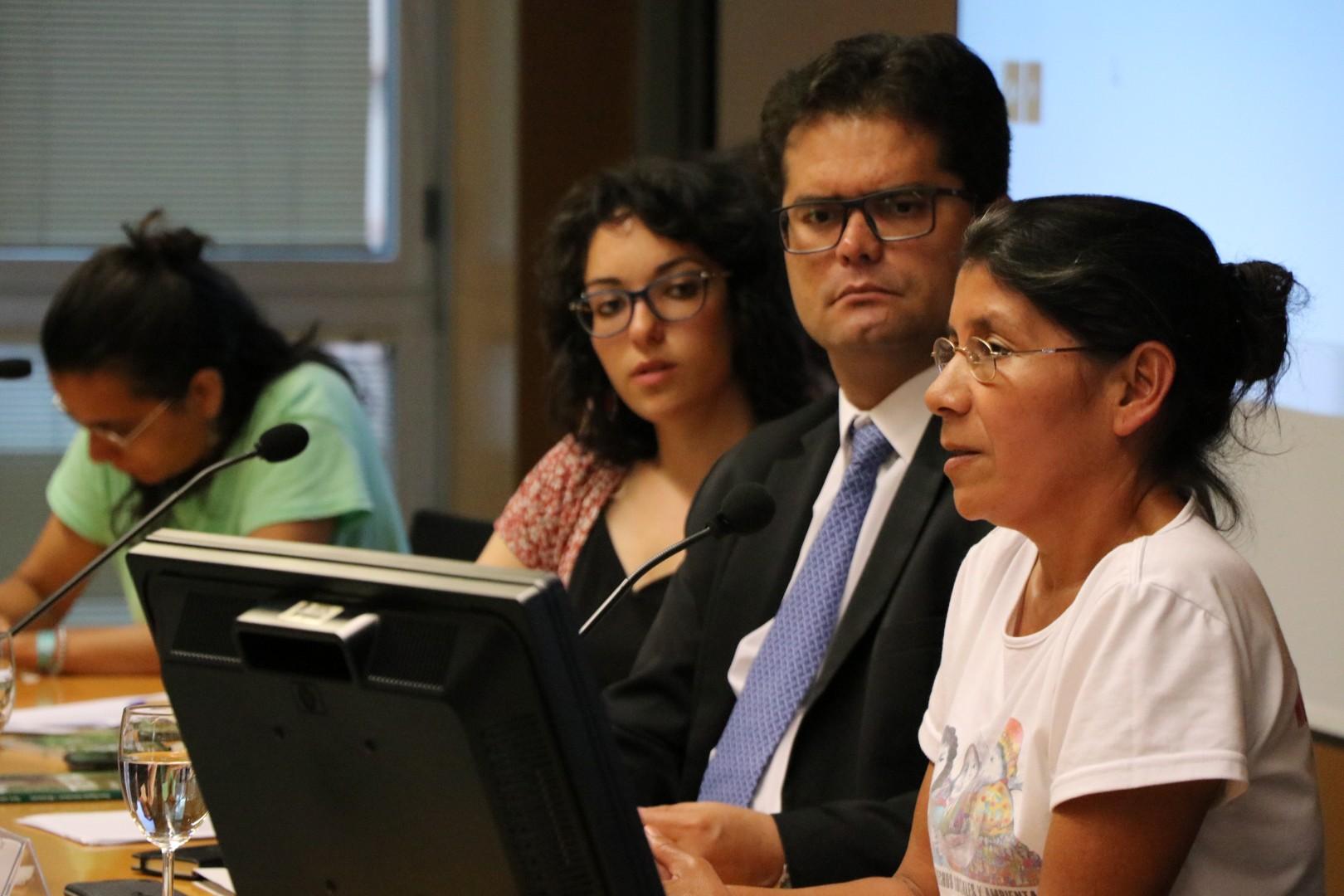 Les jornades van comptar amb el testimoni de Vidalina Morales, de la xarxa llatinoamericana de dones defensores.