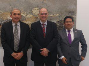 D'esquerra a dreta Luis Linares, Francesc Xavier Grau i Elí Ricardo Marín.