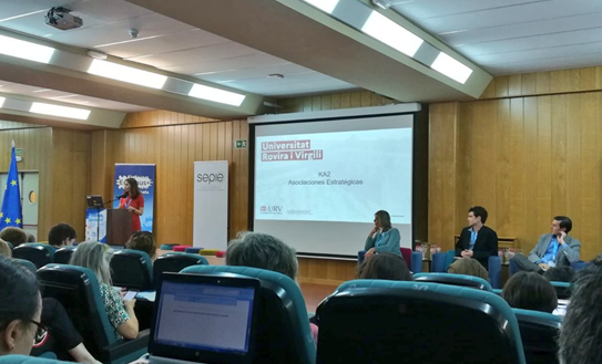 """Presentation by Marina Casals, during the round table """"The future of the Erasmus+ programme"""" at the University of Cantabria."""