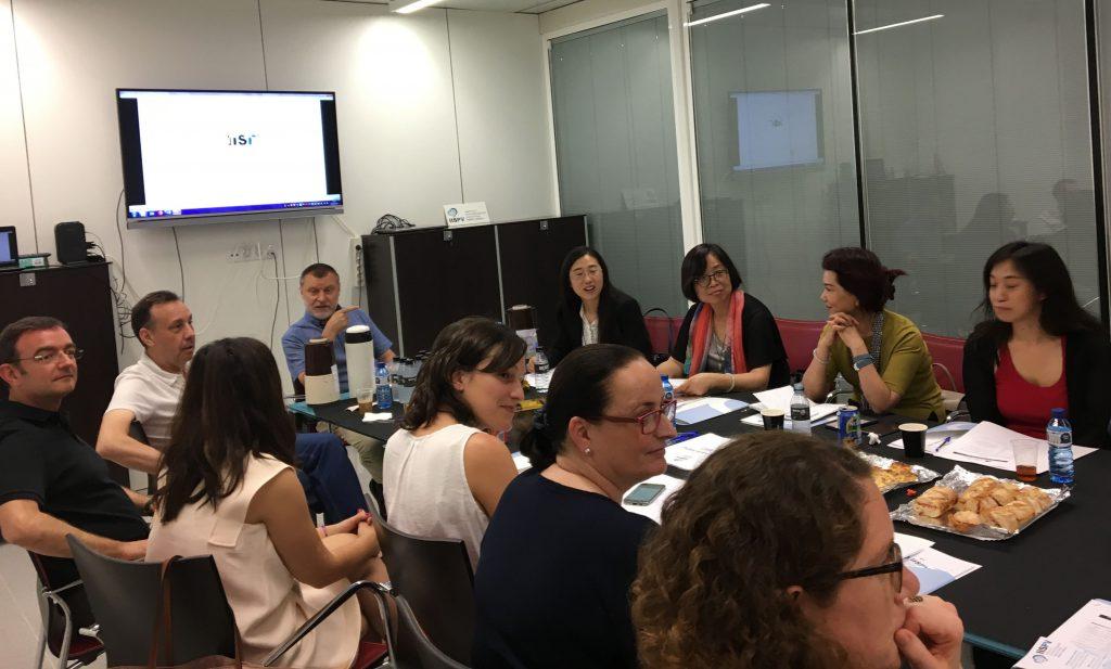 Un moment de la reunió amb la delegació xinesa
