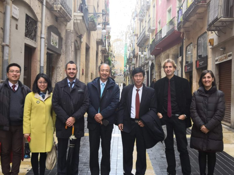 The Chinese delgation with representatives of the Centre for Hispanic Studies