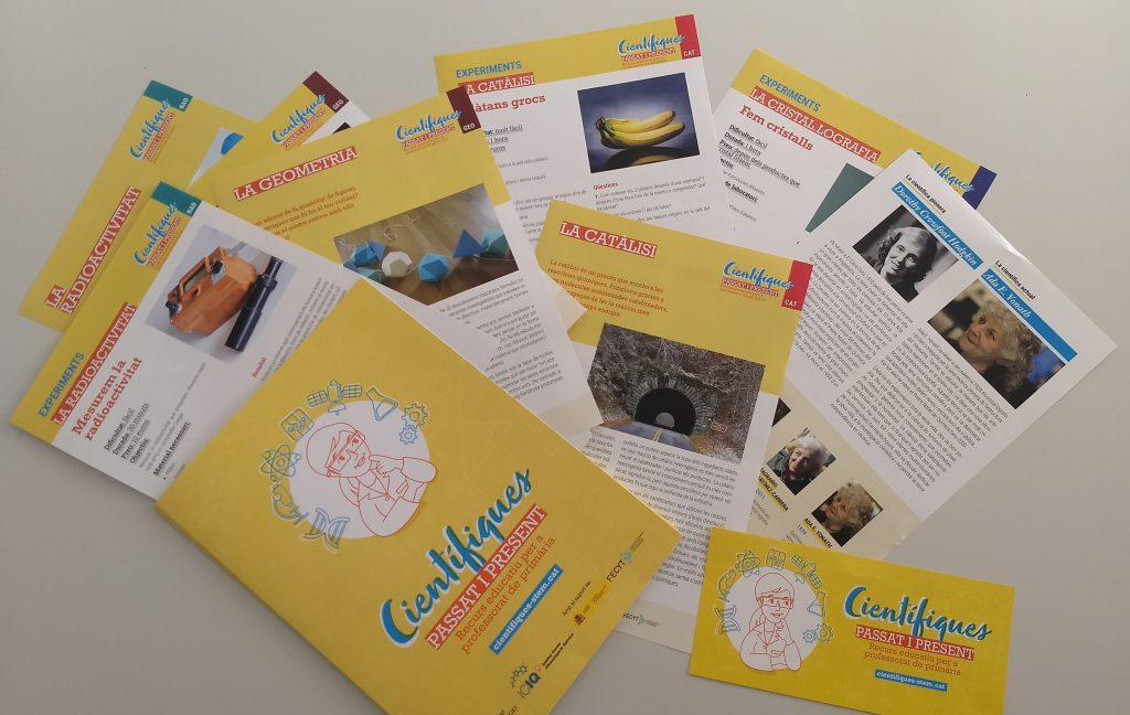 El dossier inclou fitxes de sis temes diferents, amb investigadores relacionades amb cada àmbit de recerca i experiments per fer a l'aula.