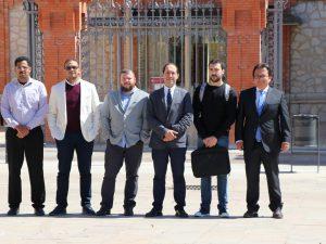 De izquierda a derecha, Mohamed AbdelNasser, Hatem A. Rashwan, Bogdan Nae, Domènec Puig, Pau Puig y Julián Cristiano, el equipo emprendedor.