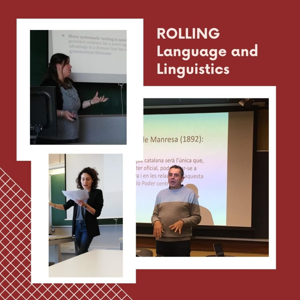 Tres imatges d'experts parlant als seminaris ROLLING.