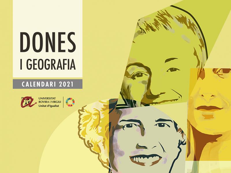portada del calendari 2021 Dones i Geografia