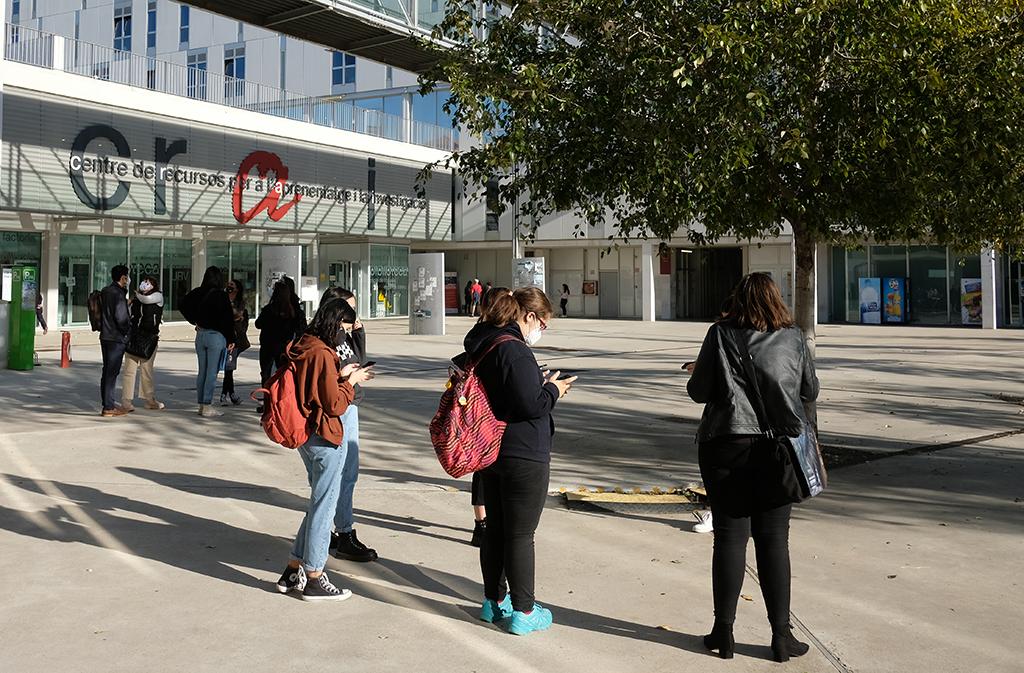 estudiants al Campus Catalunya