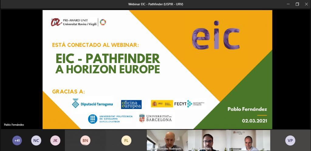Webinar EIC / Pathfinder de la USPIR