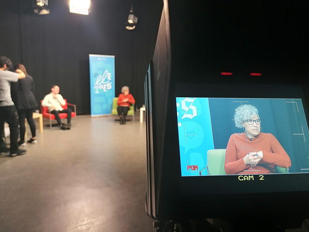 """Debat """"Som de lletres"""" al plató de televisó del Campus Catalunya"""